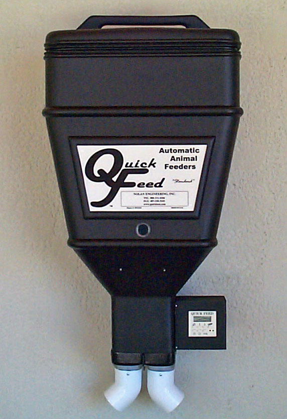Livestock feeders wall mounted automatic